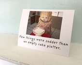 Claudia China Doll Notecard Cake Platter Funny Dessert Card