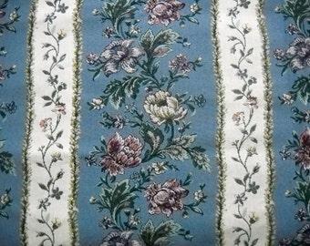 Retro Upholstery Fabric, Cabbage Rose Design