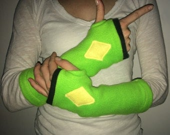 Peridot Steven Universe Fingerless Gloves (Cuffs, Cuffies, Mitts...) - Made to Order -