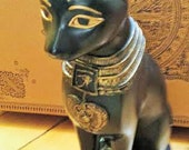 Vintage Large Bast Egyptian God of Cats Statue from Salem, MA