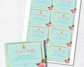 GOLD PINEAPPLE aloha tropical luau hawaiian diaper raffle ticket baby shower sprinkle  card diy instant digital download printable file