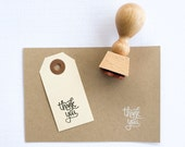 Mini Thank You Stamp - mini hand lettered thank you stamp - K0002