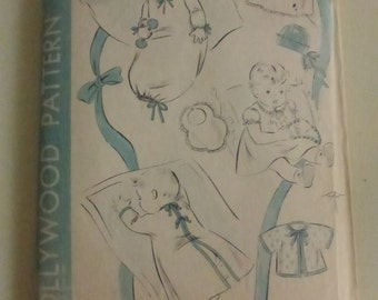Antique Hollywood Pattern 1243 Infants Layette One Size