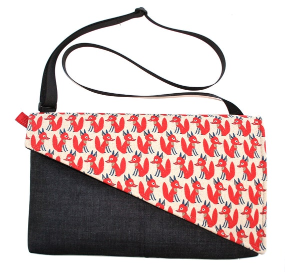 Foxes, red, Messenger bag, cross body bag