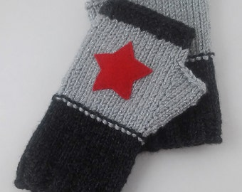 Winter Soldier Fingerless Gloves - Wrist Warmers - MADE TO ORDER