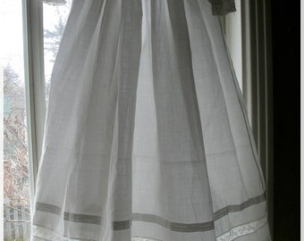 Vintage Victorian Christening Gown Lace Embroidery White Floral