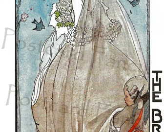 Magical MAY, The BRIDE, Vintage Postcard, Instant Digital Download