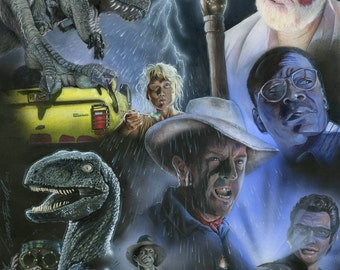 Jurassic Park Poster Tribute Print