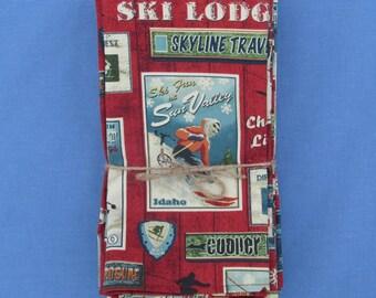 Vintage Ski Poster Napkins Set of 6 100% Cotton