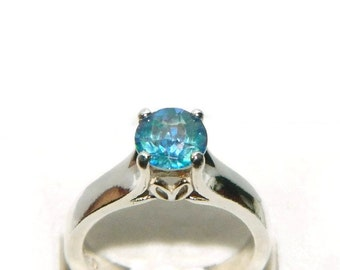 Engagement Ring, Proposal Ring, Solitaire Ring, Ring With Blue Stone, Cassiopeia Ring, Bridesmaid Ring