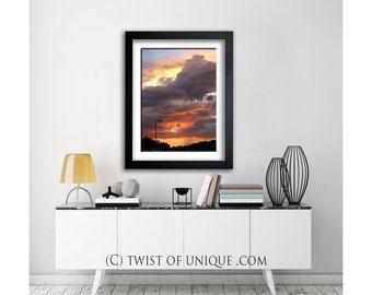Rainstorm sunset Photography/ OPEN EDITION prints / Sunset /Monsoon sunset/Southwest sunset/ rainstorm sunset/ Orange, purple, city sunset