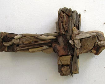 Handmade Driftwood Cross, Rustic Beach Home Decor, Religious symbol, Faith symbol (Made to Order) cross