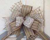 Wreath Bow Handmade Bow Replacement Bow Large Bow Gift Bow Custom Bow