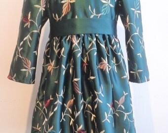 Green Satin Dress  Size 18m