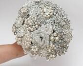 brooch bouquet, wedding bouquet, bridal bouquet, bridesmaids bouquets, wedding decor, brooch decor, brooch accessories, white wedding
