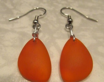 Orange Petal Beach Earrings