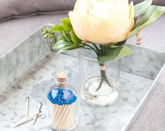 Royal Blue Matchstick Jar™. Blue matches. Colored matches. Stocking Stuffer. Gifts for her. Hostess gift. Home decor.