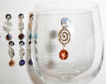 Crystal Wine Charms, Elegant Wine Charms, Magnetic Wine Charms, Celtic Wine Glass, Stemless Wine Glass Charms, Wine Charms, WC505S, WC505G
