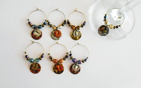 wine glass charms boho style wine glass charms unique by