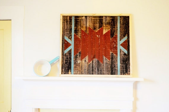 Sale aztec reclaimed wood wall art barn wood home decor Reclaimed wood wall art for sale