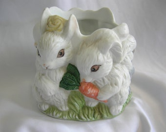 Bunny Rabbit Planter | Holland Floral | Vintage 1992