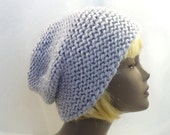 Light Gray Winter Hat, Russian Style Hat, Hand Knit Hat, Warm Wool Beanie, Cossack Hat, Wool Toque, Handmade in the USA, Ready to Ship