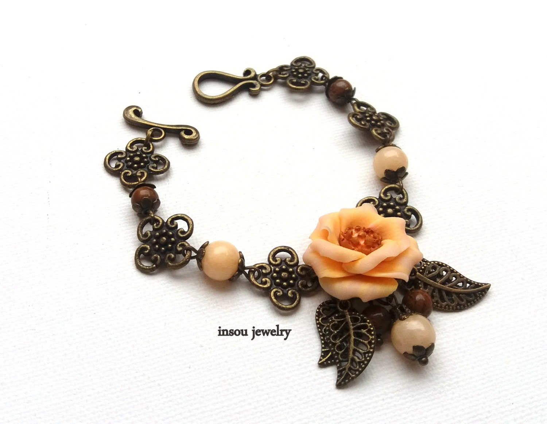 Bridal Flower Bracelet : Flower bracelet wedding accessories charm