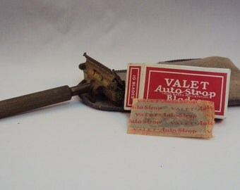 Valet Razor, VC2, with 8 unused Auto Strop Blades