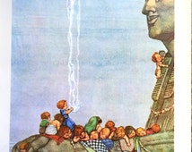 1912 W HEATH ROBINSON Children and the SPHINX Print Ideal for Framing