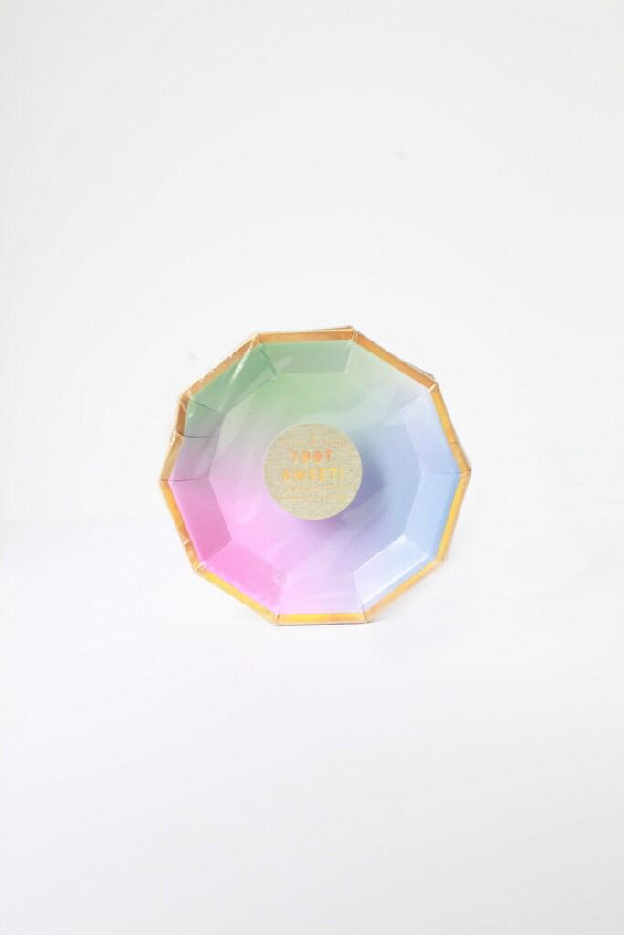 Mini small canape ombre paper plates meri meri party for Mini canape cases