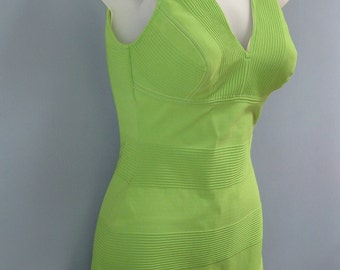 Vintage 1960's Green Bathing Suit One Piece Swimsuit Catalina