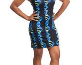 DNA Double Helix Blue Print Dress - Medical Student Gift - Women in STEM Inspired - Science Dress - DNA strand - Science Teacher Gift