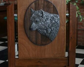 Wolf Head - Nail Mosaic