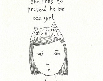 cat girl (drawing)