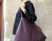 NEW 2016 AW Genuine Leather Burgundy Bag / High Quality Tote Asymmetrical Large Bag / Long Zipper by AAKASHA A14448