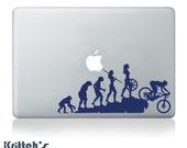 Woman Mountain Bike Rider Vinyl Decal fits car, truck, apple or pc laptop, window sticker K582