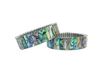 Abalone Bracelet, Abalone Shell Bracelet, Stretch Bead Bracelet, Stretch Bracelet