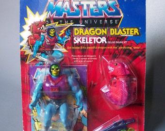 Vintage He-Man Dragon Blaster Skeletor (MOC) New in Package C8 Very Rare