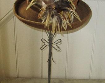 Vintage Wire Hat Stand, Hat Form [Shel]