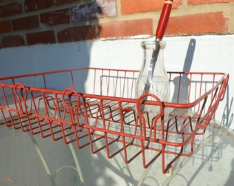 Vintage, Large Red Kitchen Drying Rack