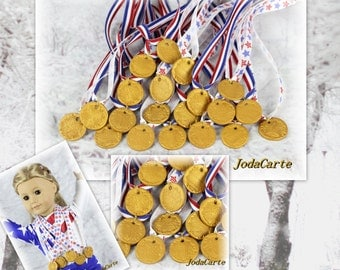 Doll Medals In Mixed Ribbon - Party Pack
