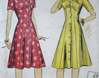 DuBarry 5398 /1940s Princess Dress/ Vintage Dress Pattern/ Bust 30
