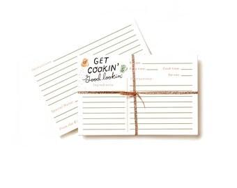 Recipe Cards - 10 pack - Get Cookin' Good Lookin'