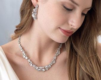 CZ Wedding Jewelry, CZ Bridal Jewelry, Cubic Zirconia Jewelry Set, Cubic Zirconia Bridal Jewelry Set, Wedding Jewelry Set, Jewelry ~JS-1539