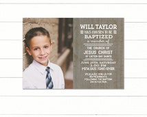 LDS Baptism Invitation Printable CUSTOM LDS Baptism Invitation Boys