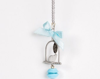 Bird Cage Macaroon Necklace