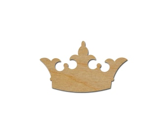 Princess Crown Shape Unfinished Wood Craft Cutouts Variety of Sizes  - Artistic Craft Supply