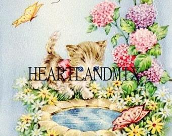 Vintage Get Well Card Digital Image Download Printable
