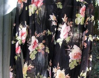 Christian Dior sheer rose blouse