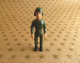 Vintage 1985 Fisher Price Construx Army Pilot